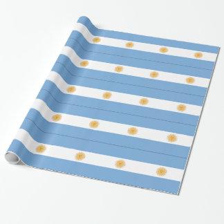 Argentinien-Flagge Geschenkpapier