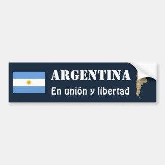 Argentinien-Flagge + Karten-Autoaufkleber Autoaufkleber