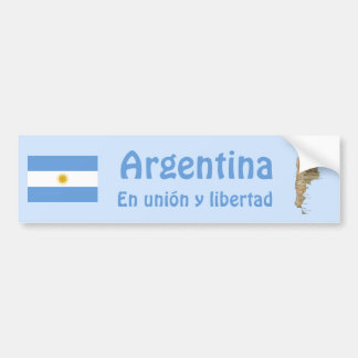 Argentinien-Flagge und Karten-Autoaufkleber Autoaufkleber