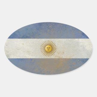 Argentinien-Flaggen-Aufkleber Ovaler Aufkleber