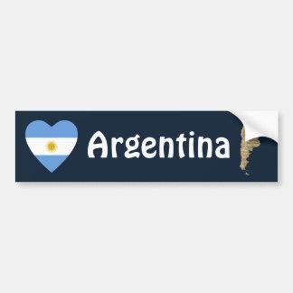 Argentinien-Flaggen-Herz + Karten-Autoaufkleber Autoaufkleber