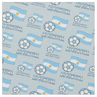 Argentinien-Fußball und -flagge Stoff