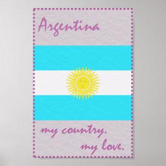 Argentinien mein Land meine Liebe Poster