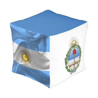 Argentinien-Wappen Kubus Sitzpuff