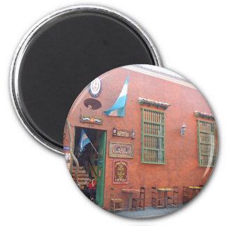 Argentinischer Grill in Cartagena Kolumbien Runder Magnet 5,1 Cm
