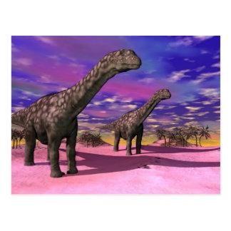Argentinosaurusdinosaurier - 3D übertragen Postkarte