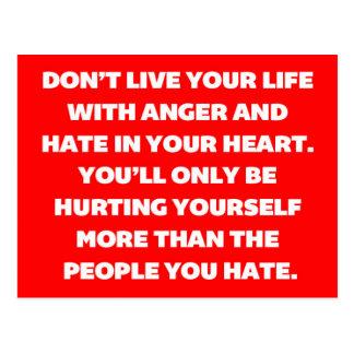 Ärger-und Hass-Zitat Postkarte