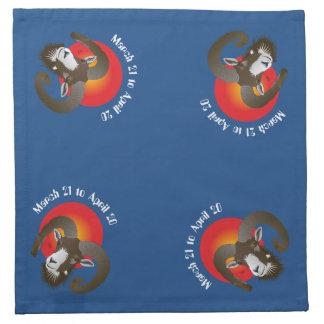 Aries March 21 to April 20 Cloth Napkins Serviette