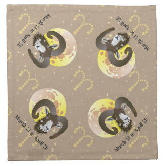 Aries March 21 to April 20 Cloth Napkins Stoffserviette