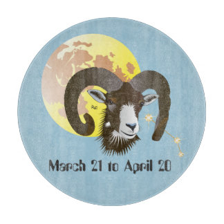 Aries March 21 to April 20 Glass Cutting Boards Schneidebrett