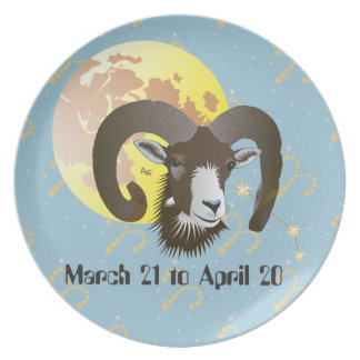 Aries March 21 to April 20 Plates Melaminteller