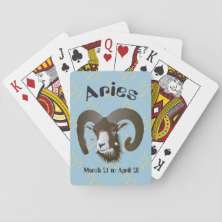 Aries March 21 to April 20 playing cards Spielkarten