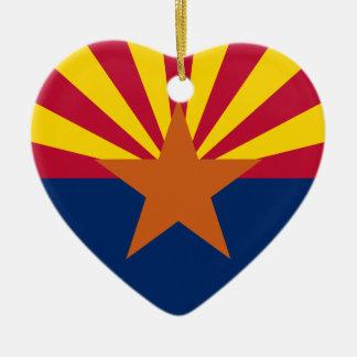 Arizona-Flagge Keramik Ornament