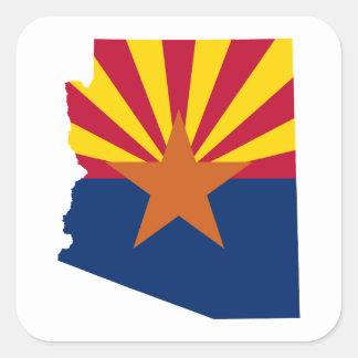 Arizona-Flaggen-Farben Quadratischer Aufkleber