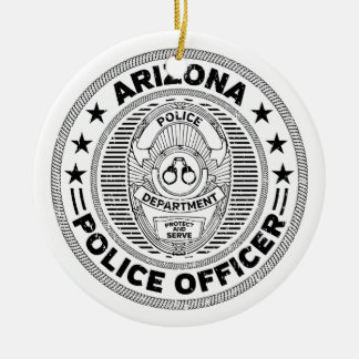 Arizona-Polizeibeamte Keramik Ornament