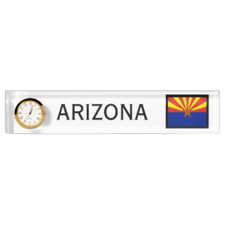Arizona-Staats-Flaggen-Schreibtisch-Uhr durch Janz