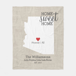 Arizona-Staats-Liebe-Zuhause-süße Fleecedecke