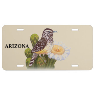 Arizona-Staats-Vogel-Kaktus-Zaunkönig US Nummernschild