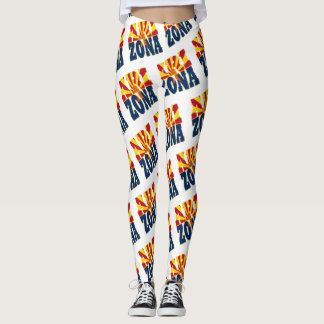 Arizona-Staatsflaggen-Textmuster Leggings