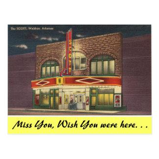 Arkansas, das Scott-Theater Postkarte