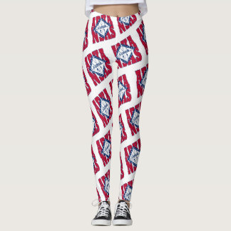 Arkansas-Staatsflaggen-Textmuster Leggings