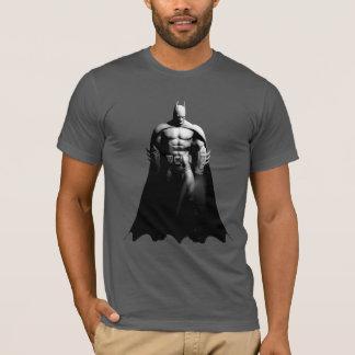 Arkham Stadt  Batman-breite Schwarzweiss-Pose T-Shirt