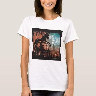 Arkham Stadt-Batman-gemischte Medien T-Shirt