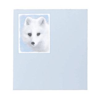 Arktischer Fox Notizblock