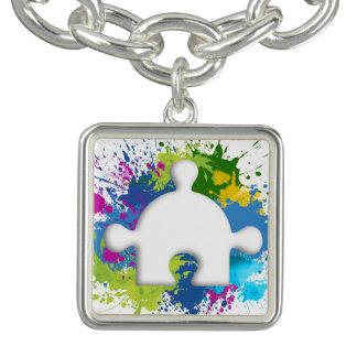 Armband mit dem Quadraten Anhänger Autism True