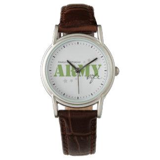 Armee-Ehefrau - immer und für immer Armbanduhr