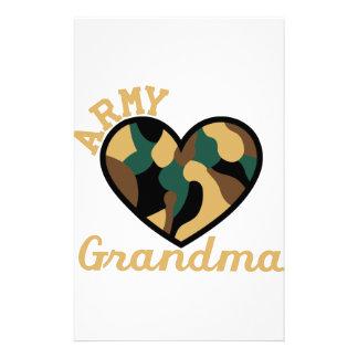 Armee-Großmutter Briefpapier