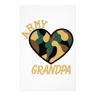 Armee-Großvater Briefpapier