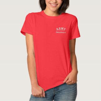 Armee-Schatz-Militär Besticktes T-Shirt