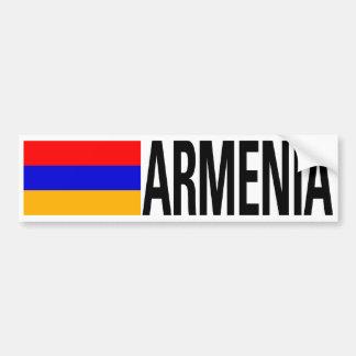 Armenien-Flagge Autoaufkleber