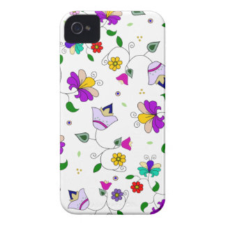 Armenisch-inspiriertes wirbelndes Blumenmuster - iPhone 4 Cover