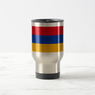 Armenische Flagge Edelstahl Thermotasse