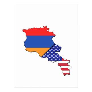 Armenische Flagge Postkarte