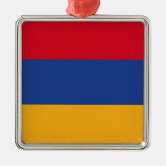 Armenische Flagge Silbernes Ornament