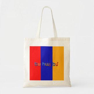 Armenische Flaggen-Budget-Tasche Budget Stoffbeutel
