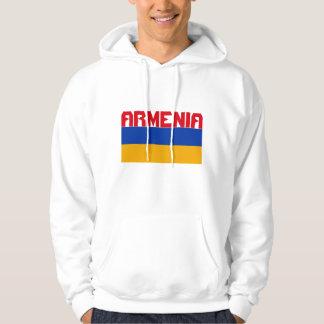 Armenische Flaggen-roter Streifen-Text Hoodie