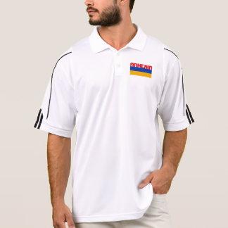 Armenische Flaggen-roter Streifen-Text Poloshirt