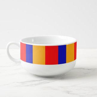 Armenische Flaggen-Suppen-Tasse Große Suppentasse