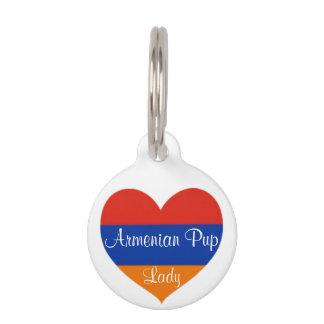 Armenische Hundeplakette des Herz-| Hundemarke