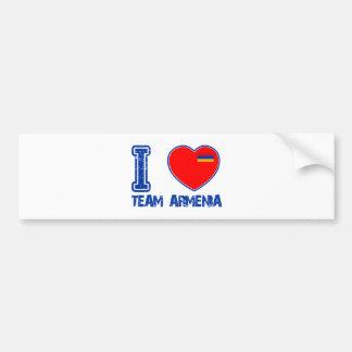 armenische Mannschaftssportentwürfe Autoaufkleber