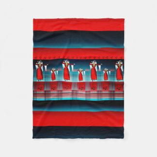 Armenische Tänzer-Fleece-Decke, klein Fleecedecke