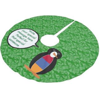 Armenischer Feiertags-Herr Penguin Polyester Weihnachtsbaumdecke