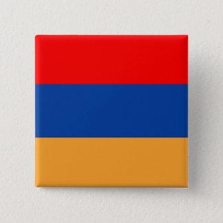 Armenischer Flaggenknopf Quadratischer Button 5,1 Cm