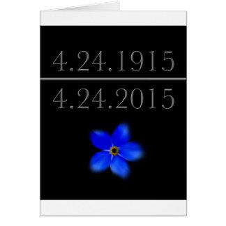 Armenischer Genozid vergessen mich nicht Grußkarte