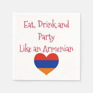 Armenisches Cocktail-Papierservietten des Party-| Serviette