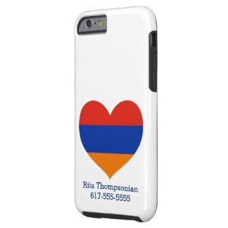 Armenisches Telefon-Rechtssache | des Herz-|Cell Tough iPhone 6 Hülle